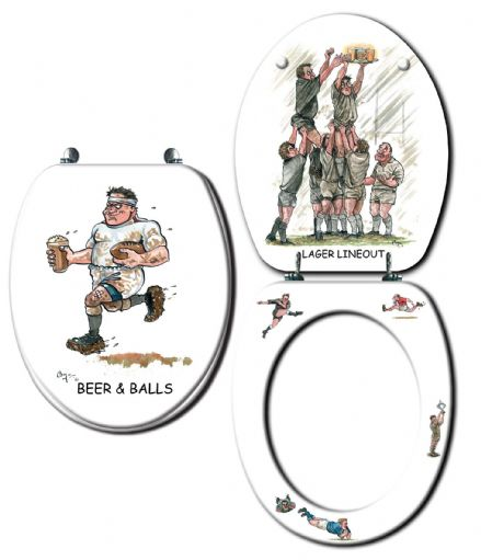Looprints Rugby Novelty Toilet Seat